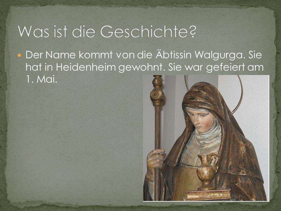 Der Name kommt von die Äbtissin Walgurga. Sie hat in Heidenheim gewohnt.