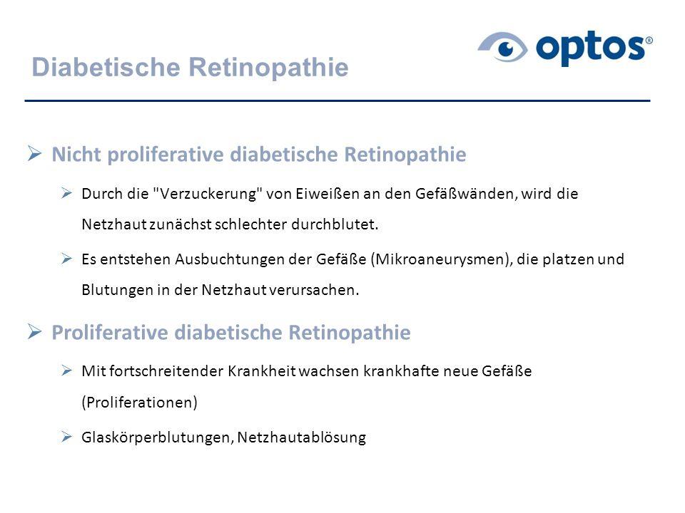  Nicht proliferative diabetische Retinopathie  Durch die