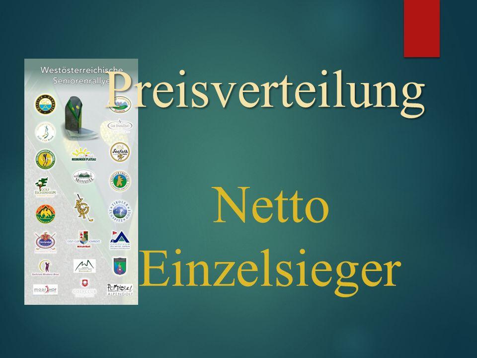 Preisverteilung Preisverteilung Netto Einzelsieger