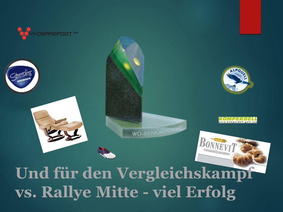 Und für den Vergleichskampf vs. Rallye Mitte - viel Erfolg