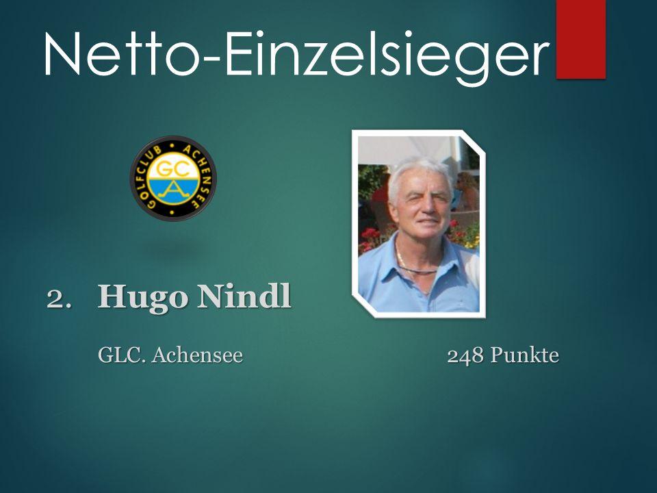 2. Hugo Nindl 2. Hugo Nindl GLC. Achensee 248 Punkte Netto-Einzelsieger