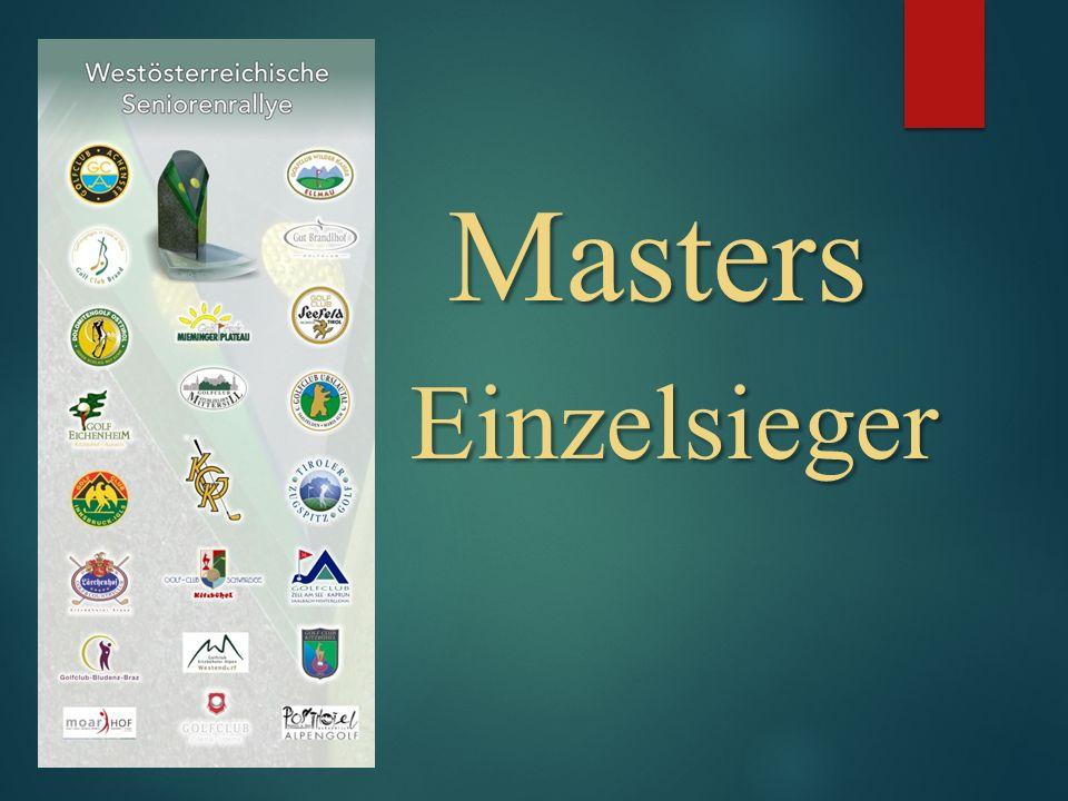 Masters Einzelsieger Masters Einzelsieger