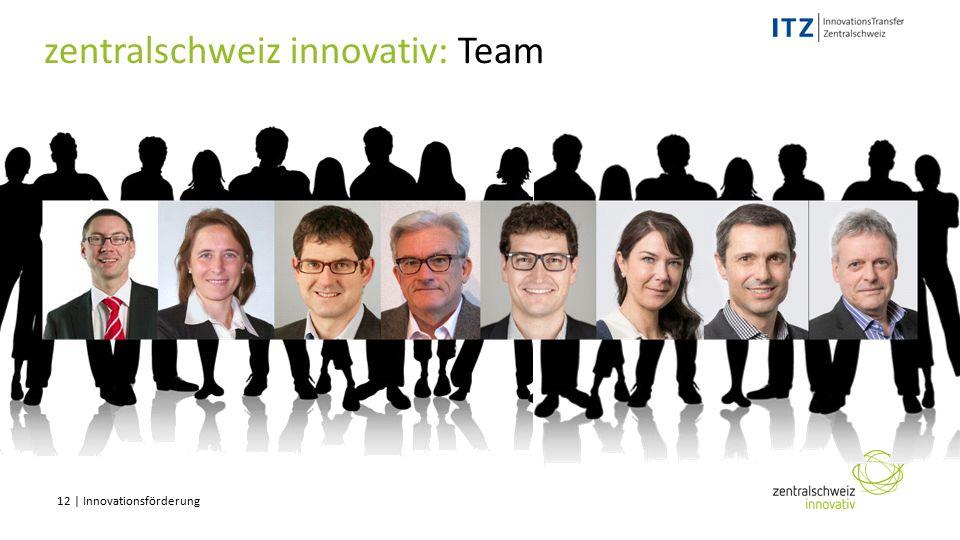 12 | Innovationsförderung zentralschweiz innovativ: Team