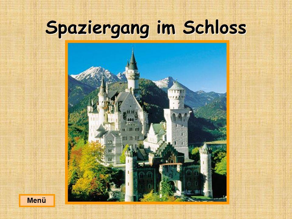 Spaziergang im Schloss Menü