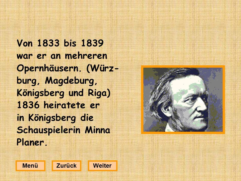 Von 1833 bis 1839 war er an mehreren Opernhäusern.