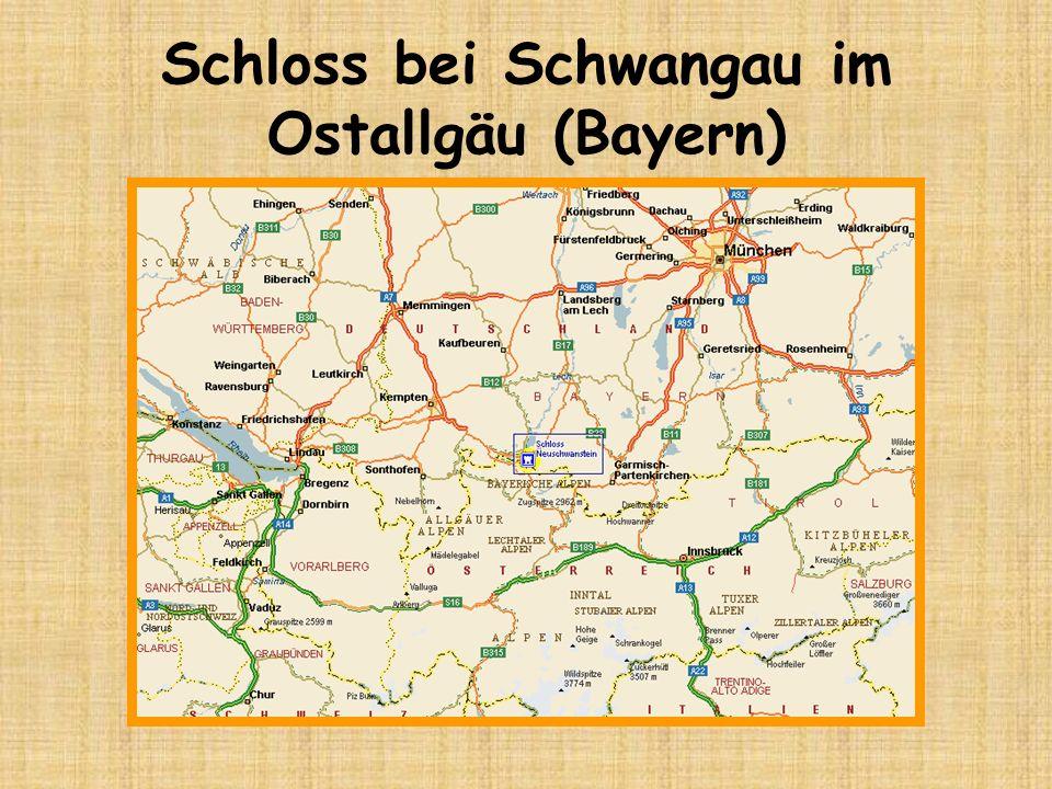 Schloss bei Schwangau im Ostallgäu (Bayern)