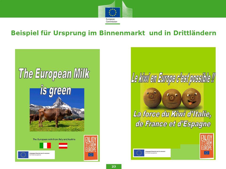 Beispiel für Ursprung im Binnenmarkt und in Drittländern 23