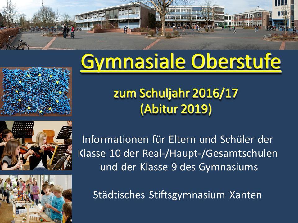Der Weg zum Abitur Abiturprüfung Abitur: Noten aus Q (Block I) und Abiturprüfung (Block II) Qualifikationsphase 1.+2.