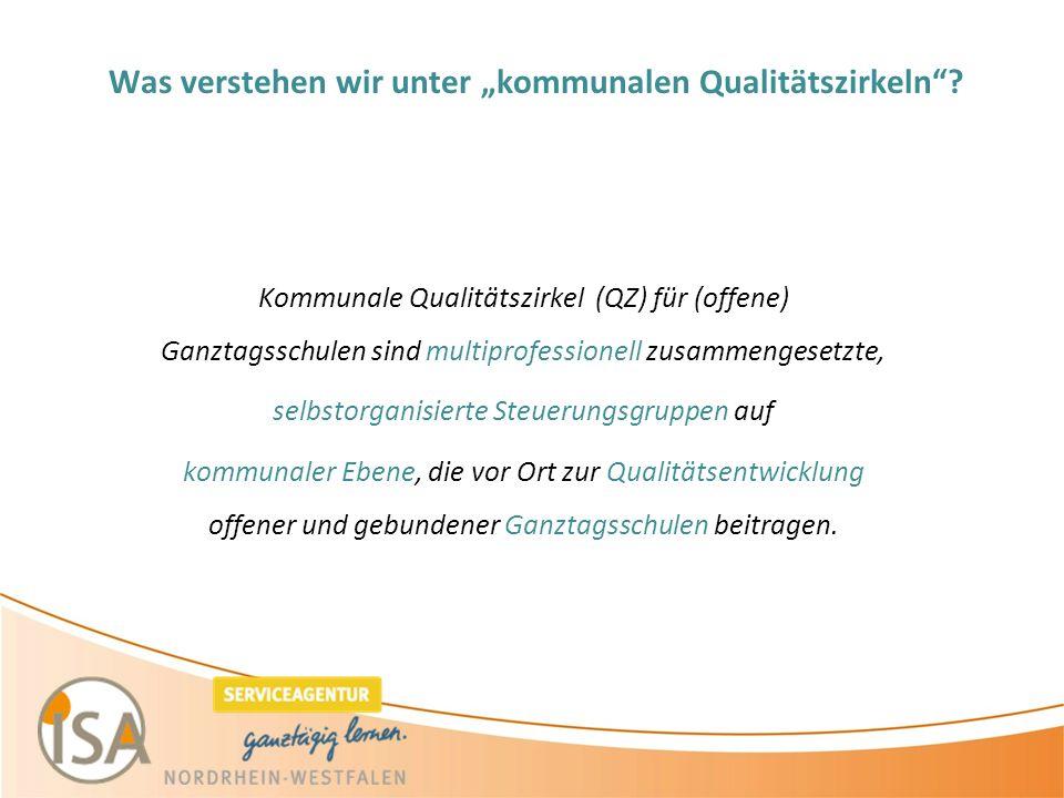"""Was verstehen wir unter """"kommunalen Qualitätszirkeln ."""