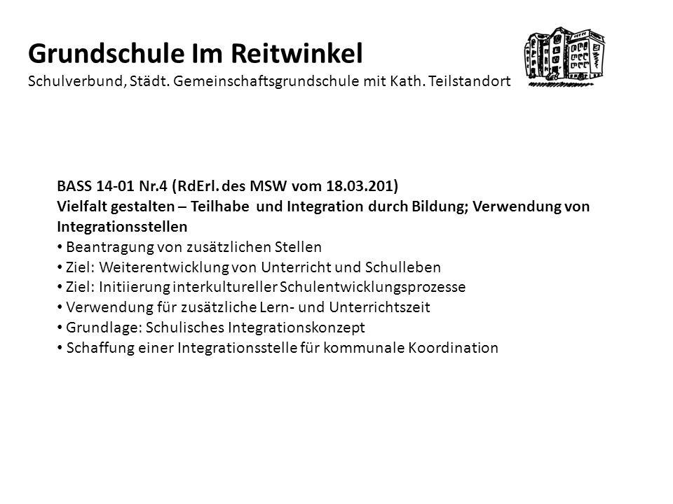 Grundschule Im Reitwinkel Schulverbund, Städt.Gemeinschaftsgrundschule mit Kath.