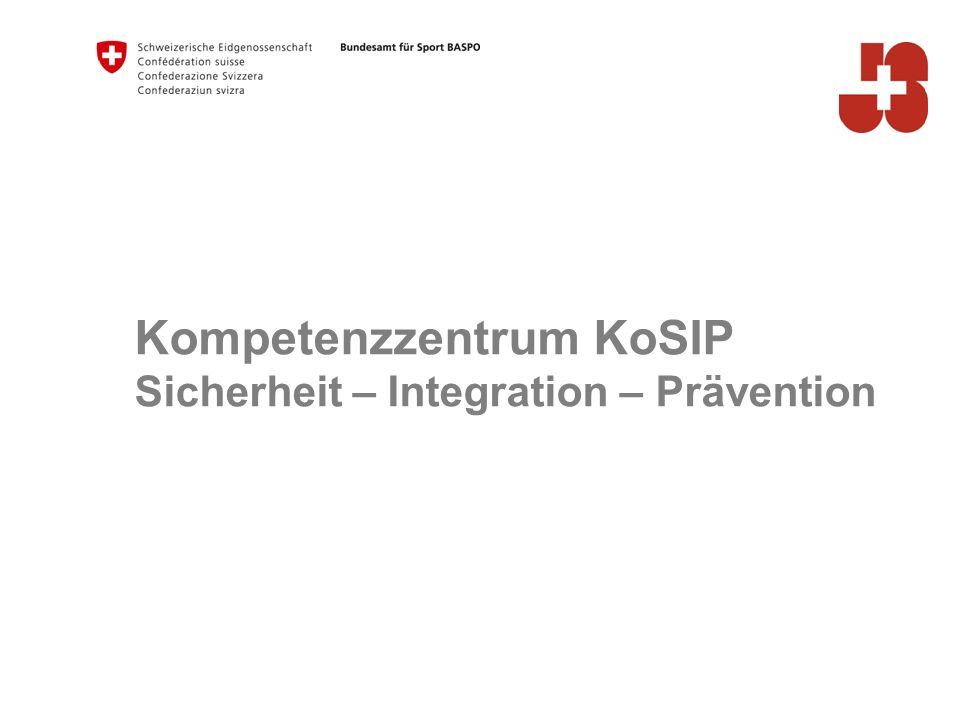 Kompetenzzentrum KoSIP Sicherheit – Integration – Prävention