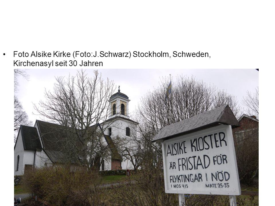 Foto Alsike Kirke (Foto:J.Schwarz) Stockholm, Schweden, Kirchenasyl seit 30 Jahren