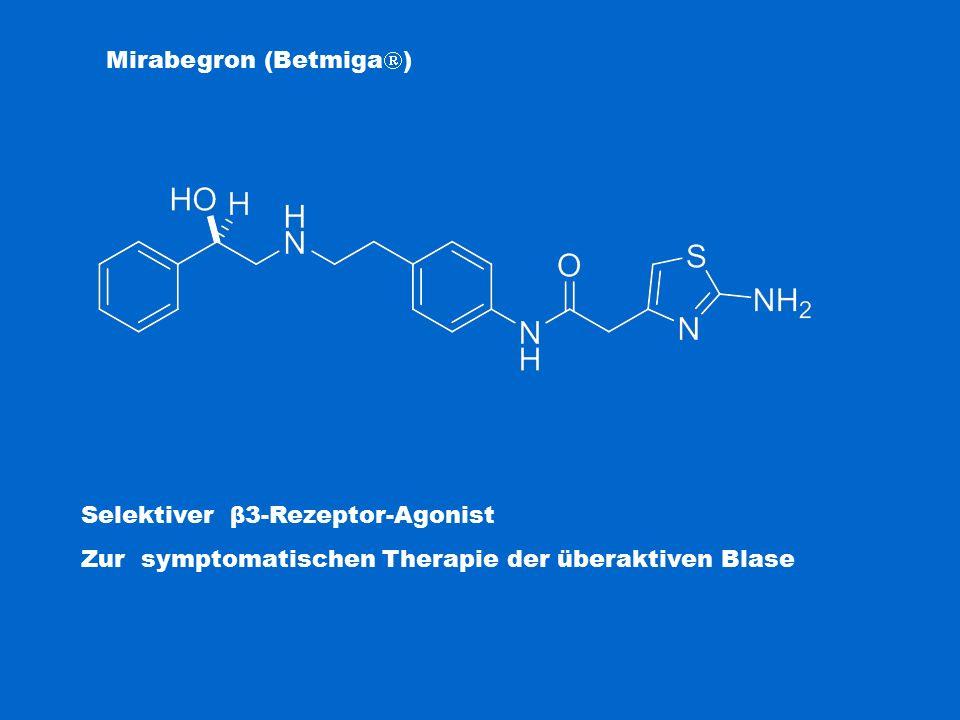 Mirabegron (Betmiga  ) Selektiver β3-Rezeptor-Agonist Zur symptomatischen Therapie der überaktiven Blase