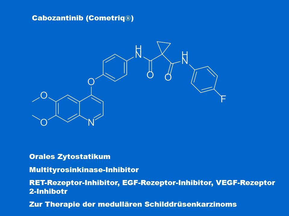 Cabozantinib (Cometriq  ) Orales Zytostatikum Multityrosinkinase-Inhibitor RET-Rezeptor-Inhibitor, EGF-Rezeptor-Inhibitor, VEGF-Rezeptor 2-Inhibotr Z