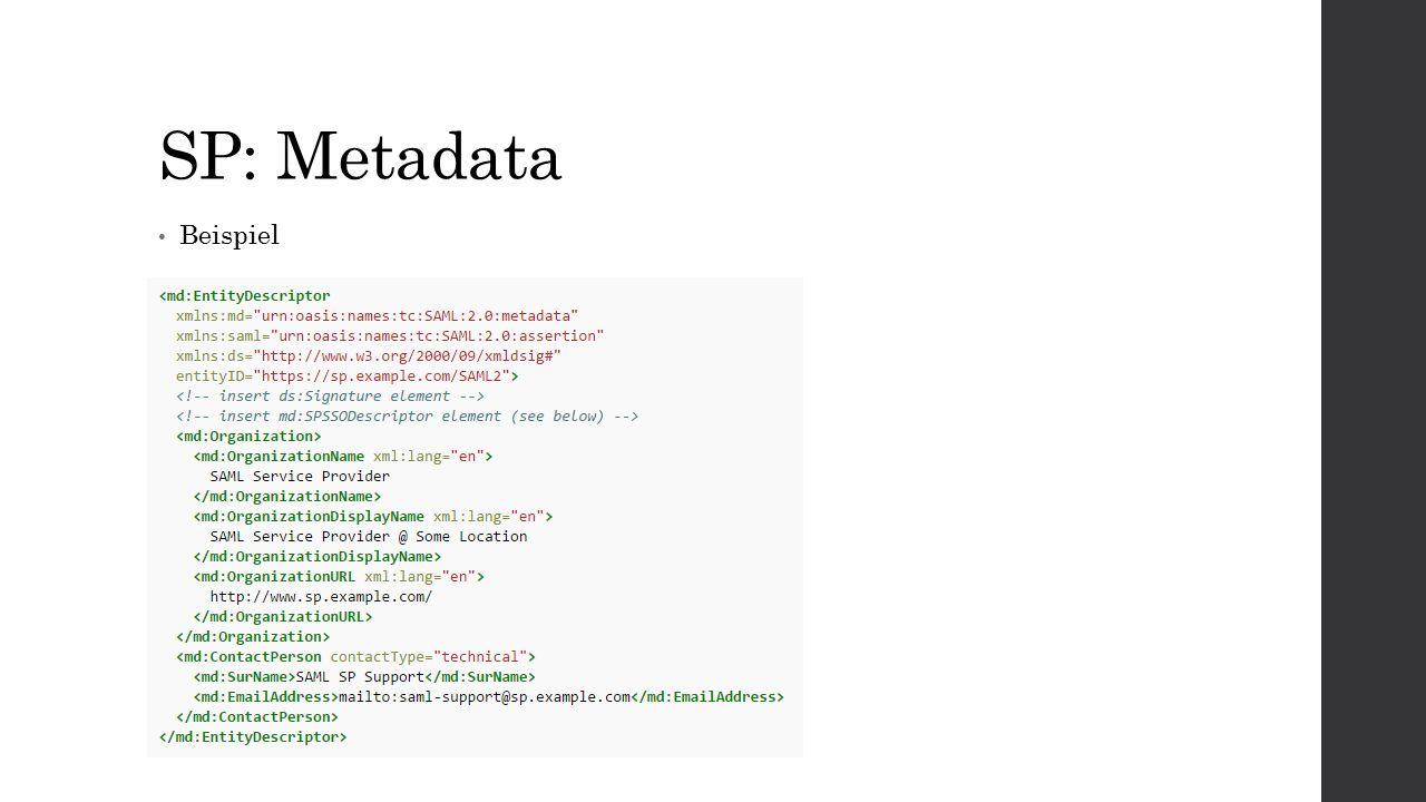 SP: Metadata Beispiel