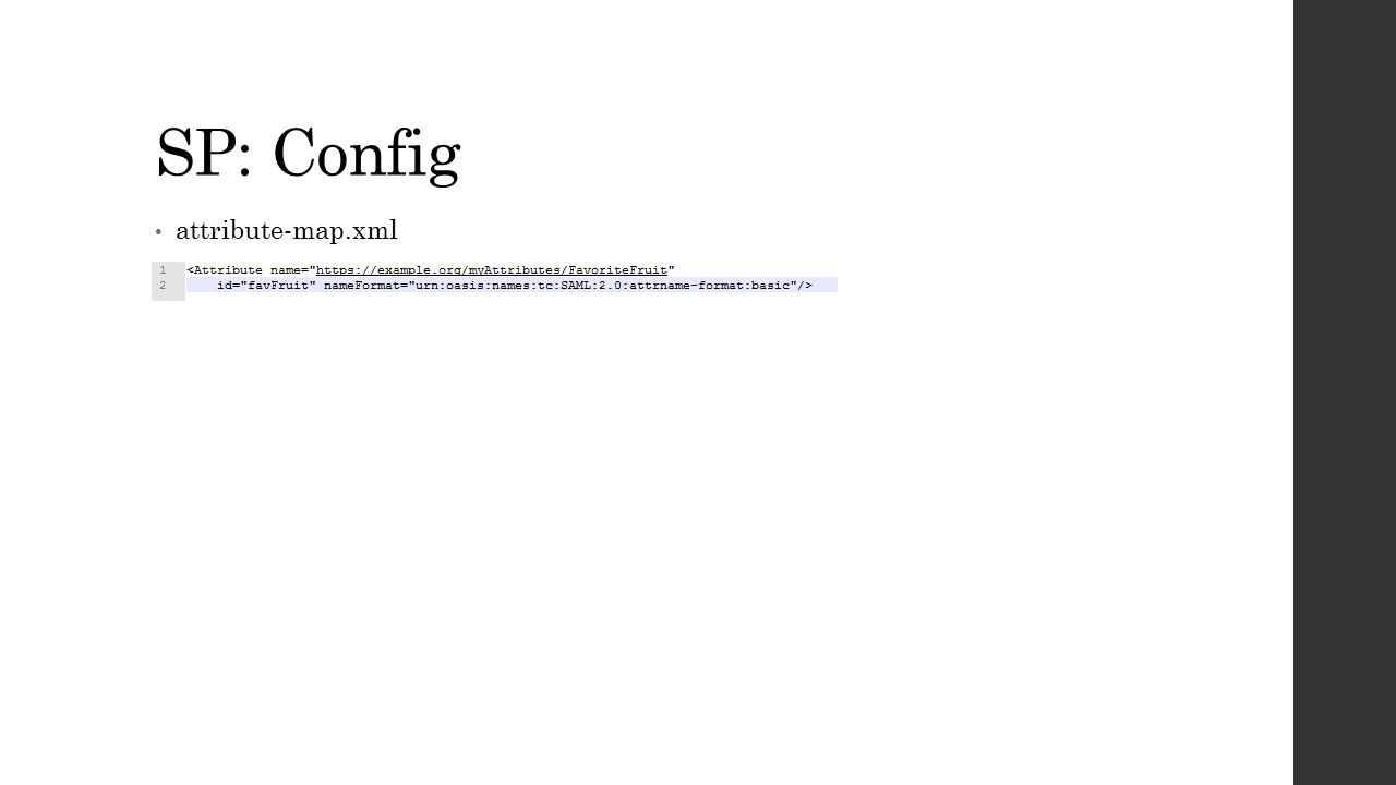 SP: Config attribute-map.xml