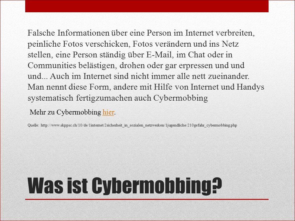 Eigene Meinung Cybermobbing ist ein Thema, dass von jedem beachtet werden sollte.