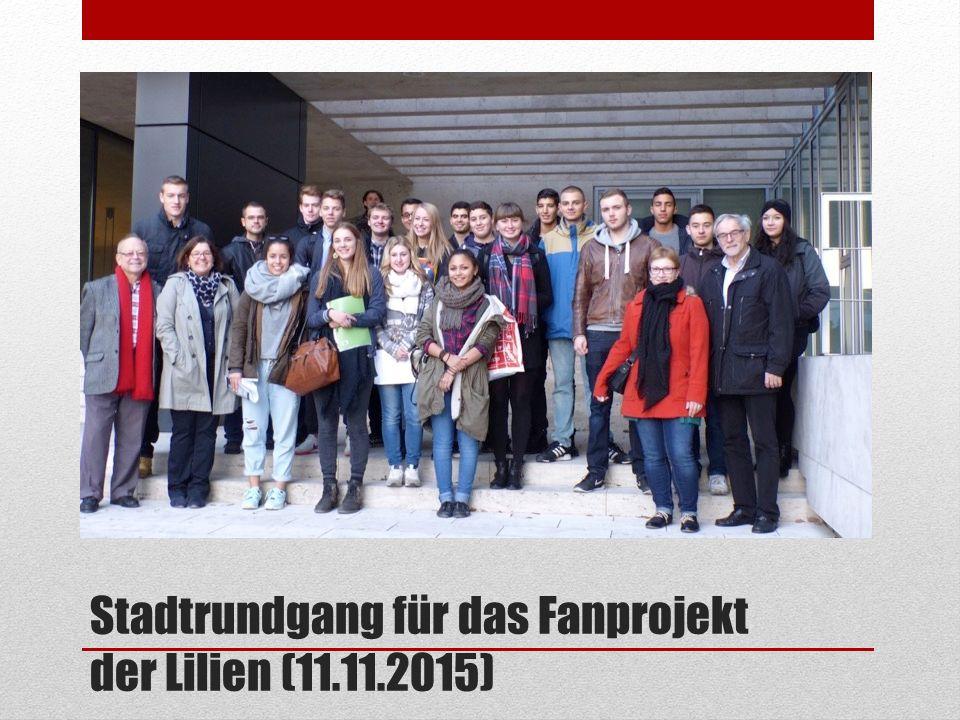Stadtrundgang für das Fanprojekt der Lilien (11.11.2015)