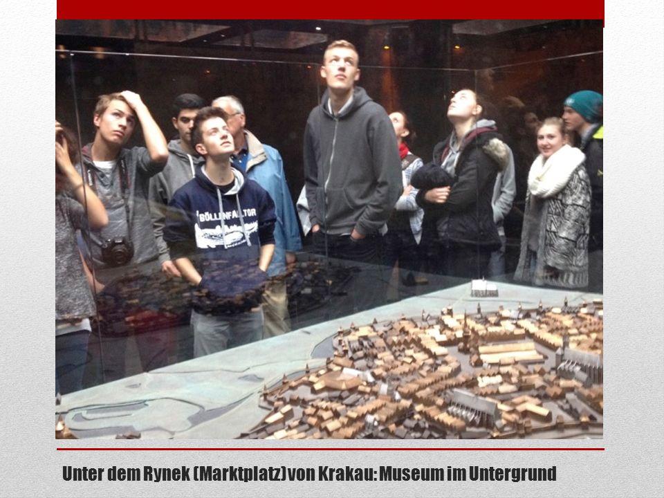 Unter dem Rynek Unter dem Rynek (Marktplatz) von Krakau: Museum im Untergrund