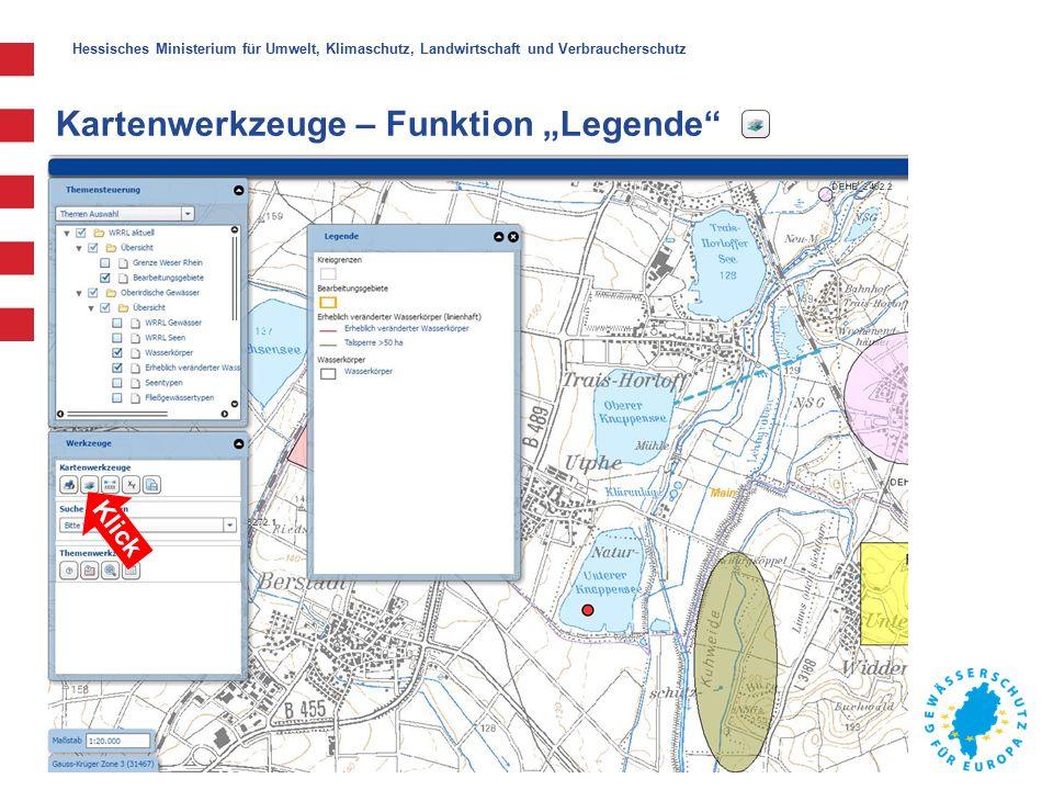 """Hessisches Ministerium für Umwelt, Klimaschutz, Landwirtschaft und Verbraucherschutz Kartenwerkzeuge – Funktion """"Legende Klick"""