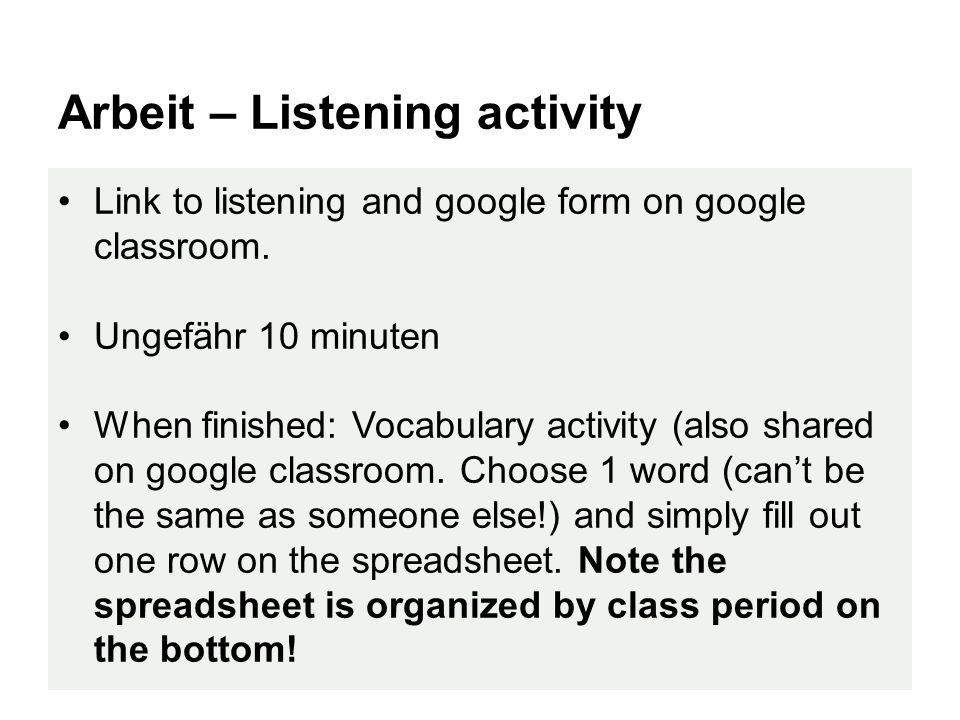 Exit slip Schreibe ein Satz mit ein wenn clause and turn it in.
