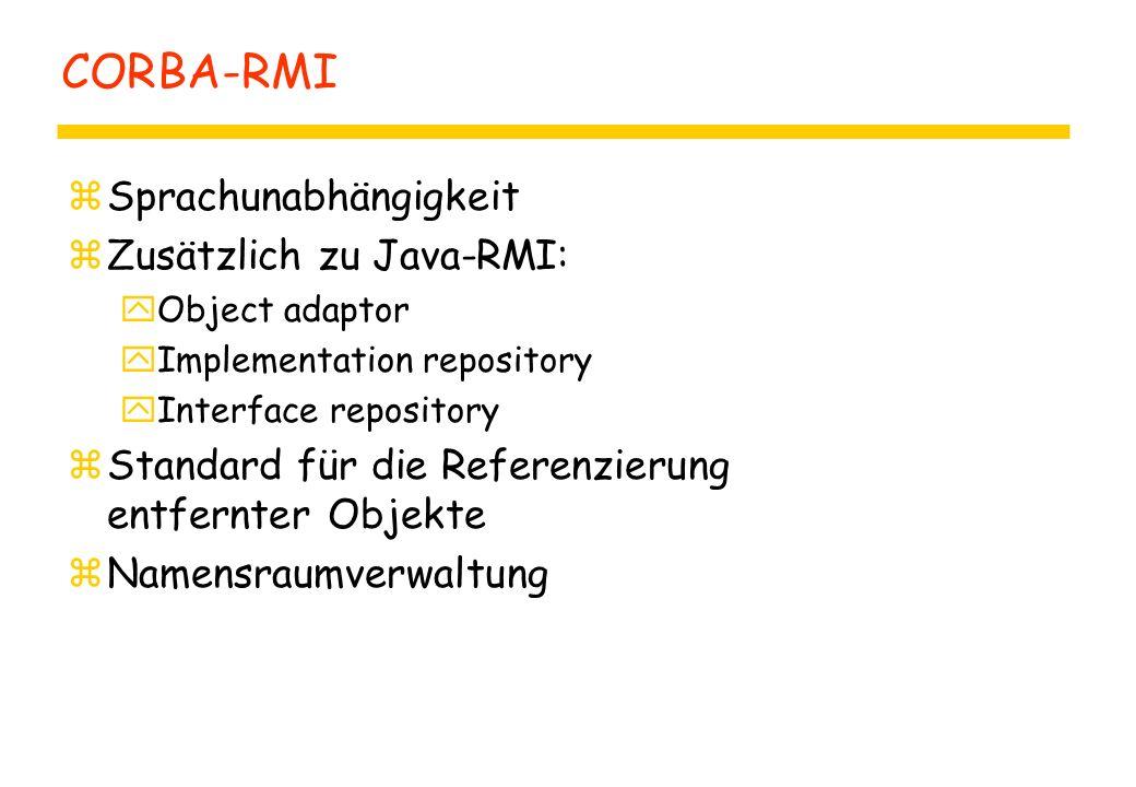 CORBA Interface Definition Language: IDL zCORBA IDL (im Ggs.