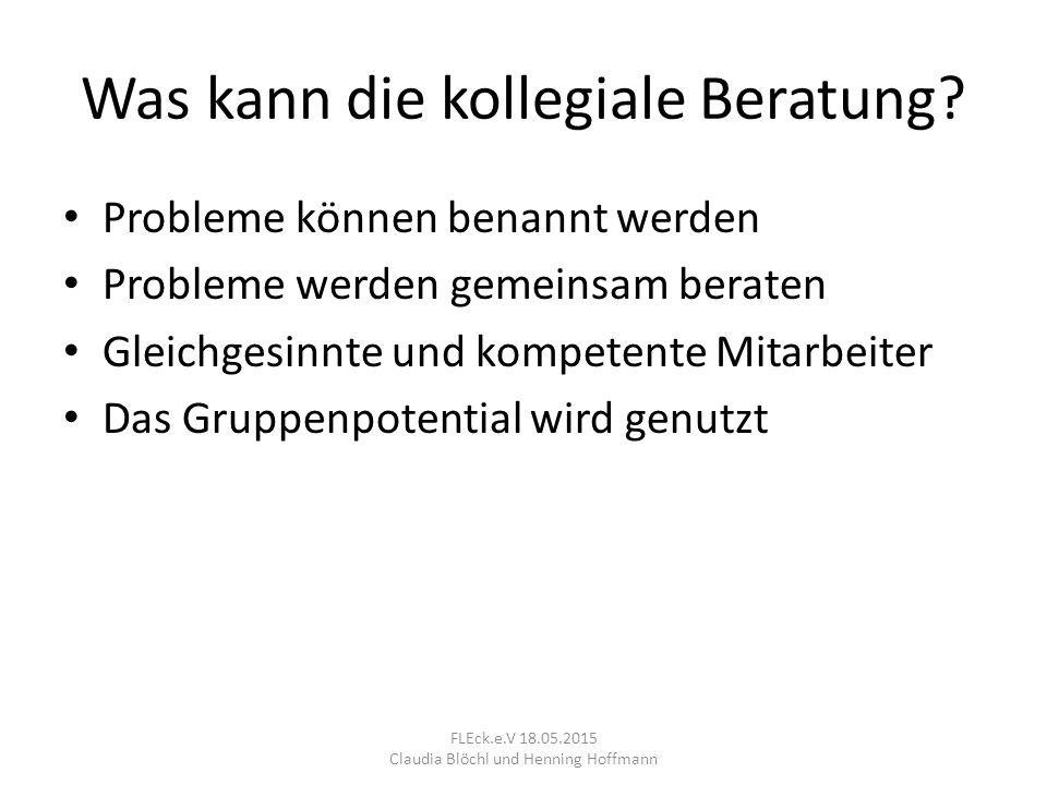 4. Spiegeln FLEck.e.V 18.05.2015 Claudia Blöchl und Henning Hoffmann