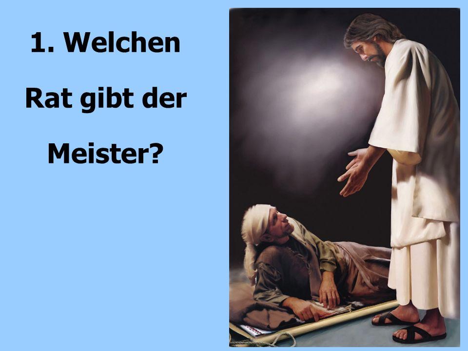 1.Bleibe selber bei Jesu Worte 2. Vermeide Redetherapie; vermittele Wahrheit.
