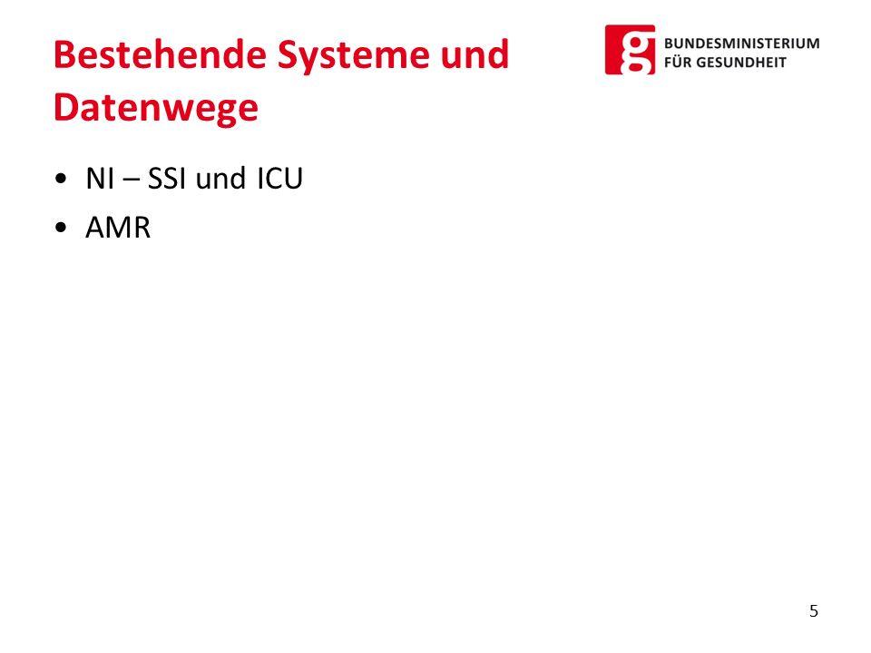 Bestehende Systeme und Datenwege NI – SSI und ICU AMR 5