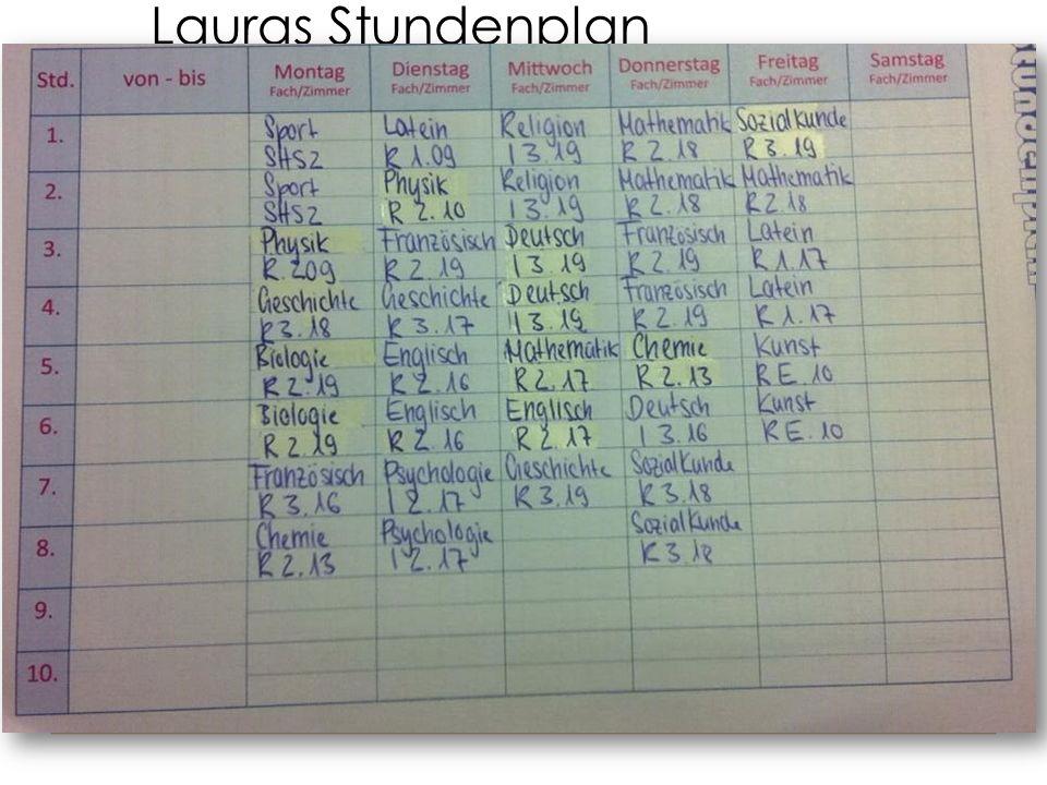 Lauras Stundenplan