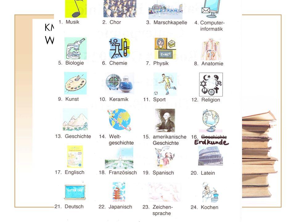KM1.4.1 Wortschatz: Bilder