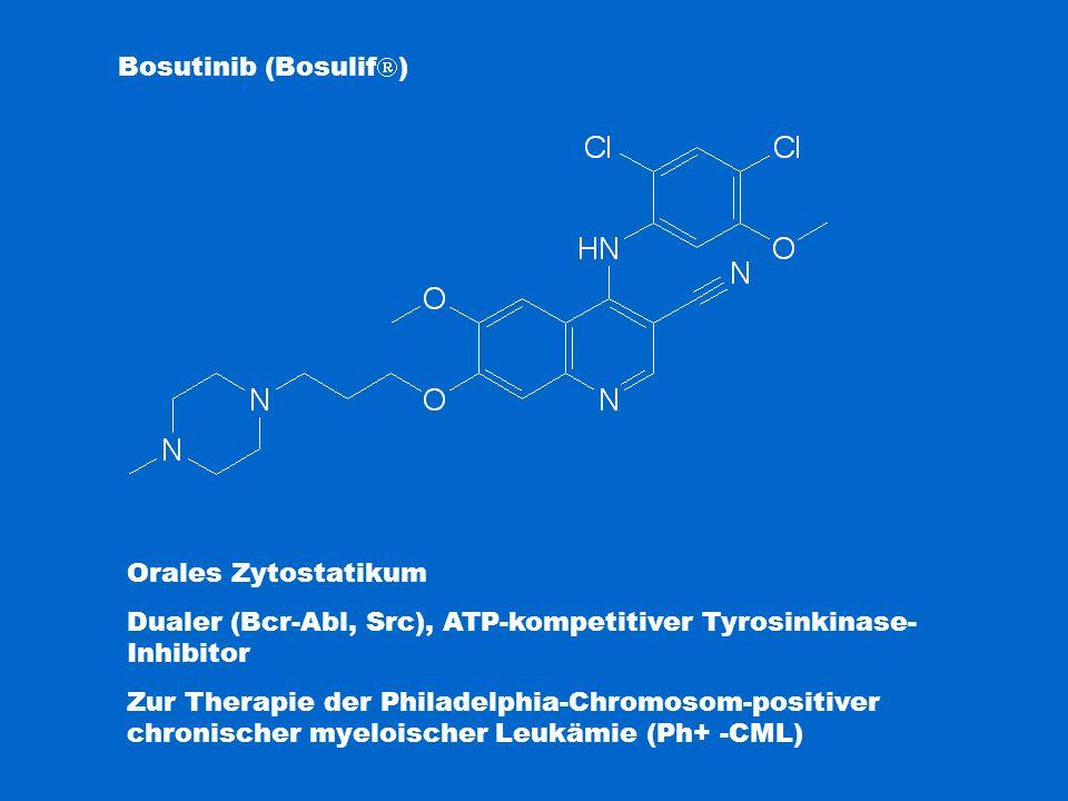 Bosutinib (Bosulif  ) Orales Zytostatikum Dualer (Bcr-Abl, Src), ATP-kompetitiver Tyrosinkinase- Inhibitor Zur Therapie der Philadelphia-Chromosom-po