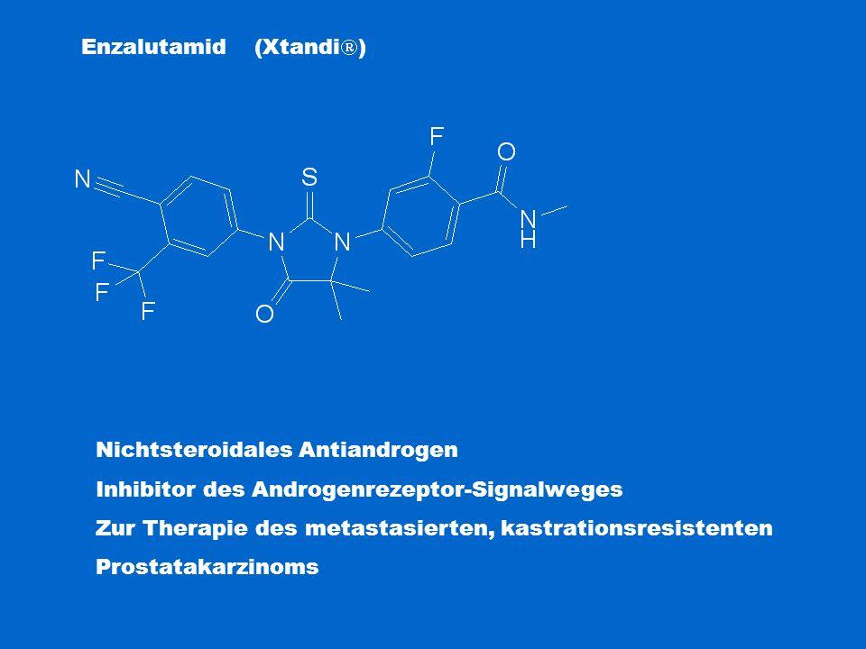 Enzalutamid (Xtandi  ) Nichtsteroidales Antiandrogen Inhibitor des Androgenrezeptor-Signalweges Zur Therapie des metastasierten, kastrationsresistent