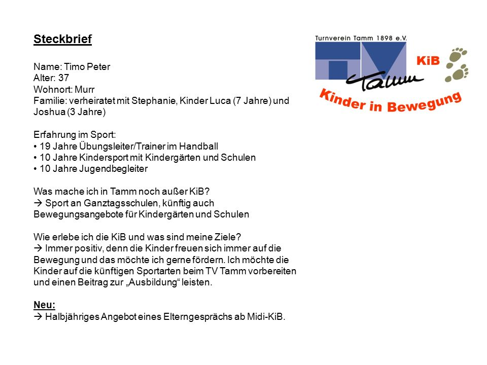 Mini KiB - Grundstufe – Allgemeines Grundlagentraining Erlernen und Festigen vielfältiger Bewegungsformen (z.