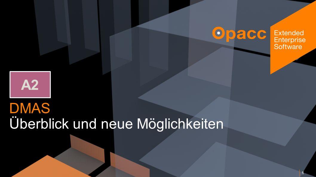 Opacc, CH-Kriens/LucerneOpaccConnect 201430.10.2014 2 DMAS – Überblick und neue Möglichkeiten Programm Wieso ein eigenes DMAS.