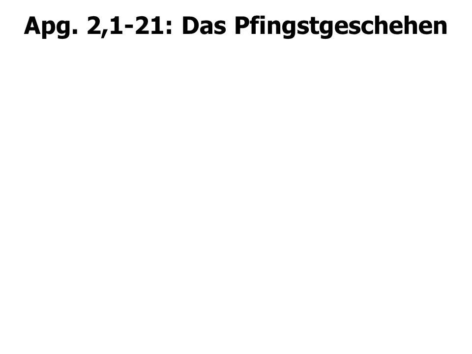 Apg. 2,1-21: Das Pfingstgeschehen