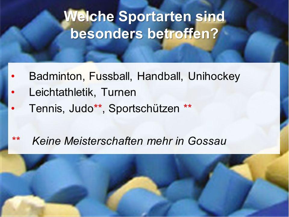 20. Delegiertenversammlung TSV Fortitudo Gossau 14. März 2013, Freihof Gossau Badminton, Fussball, Handball, Unihockey Leichtathletik, Turnen Tennis,