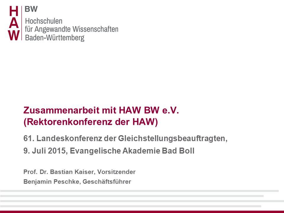 Zusammenarbeit mit HAW BW e.V.(Rektorenkonferenz der HAW) 61.