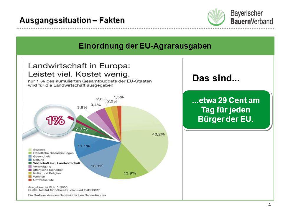 4 Das sind......etwa 29 Cent am Tag für jeden Bürger der EU.