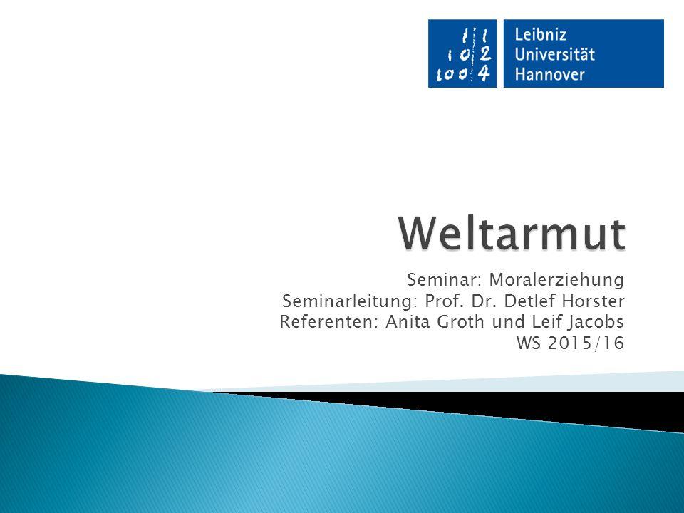 Seminar: Moralerziehung Seminarleitung: Prof. Dr.