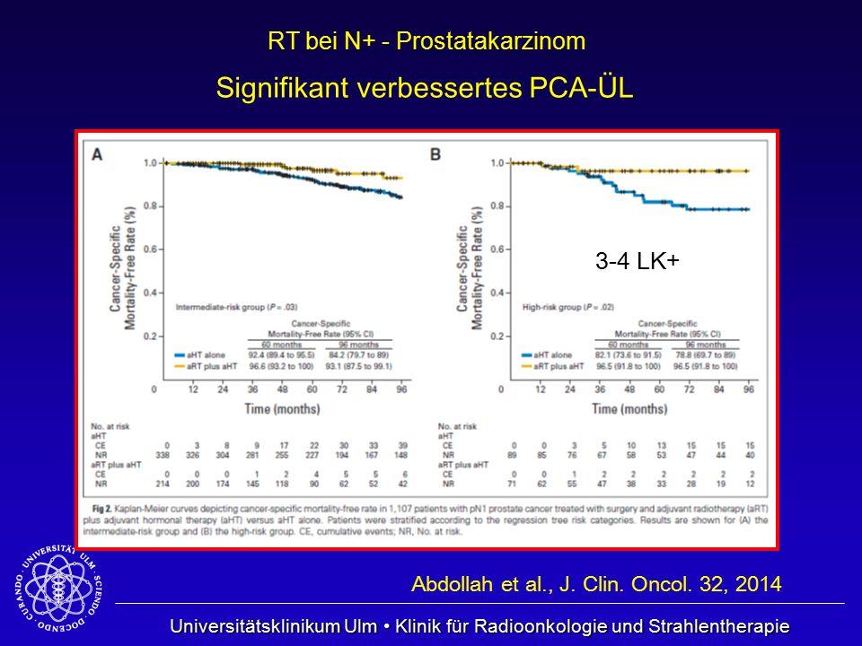 Universitätsklinikum Ulm Klinik für Radioonkologie und Strahlentherapie RT bei N+ - Prostatakarzinom Abdollah et al., J. Clin. Oncol. 32, 2014 3-4 LK+