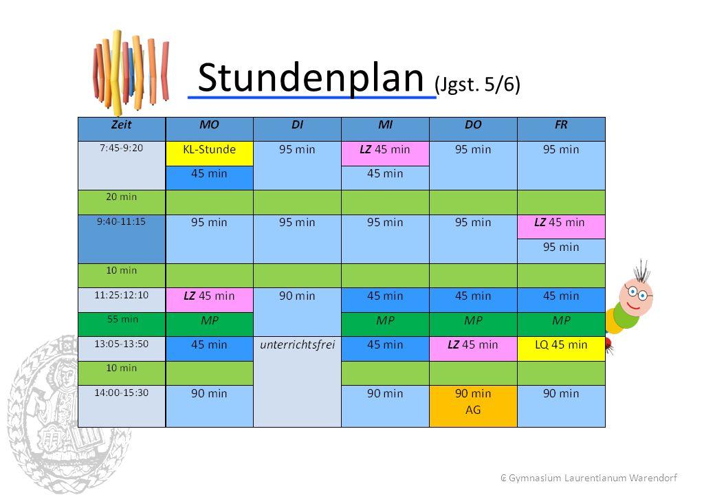 Stundenplan (Jgst. 5/6) ₢ Gymnasium Laurentianum Warendorf