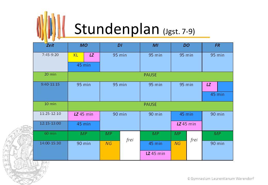 Stundenplan (Jgst. 7-9) ₢ Gymnasium Laurentianum Warendorf