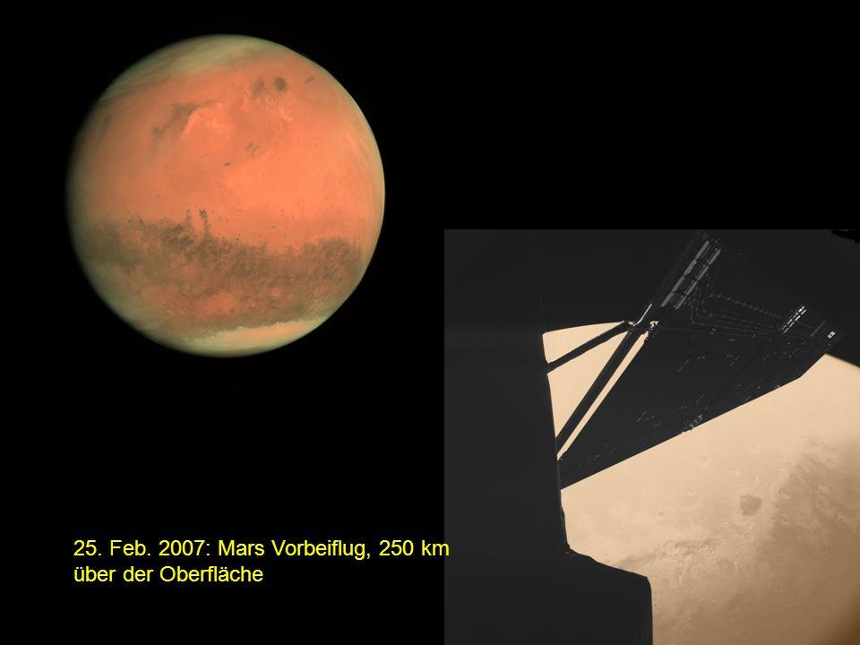 25. Feb. 2007: Mars Vorbeiflug, 250 km über der Oberfläche