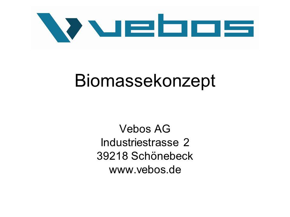 Biomassekonzept Vebos AG Industriestrasse 2 39218 Schönebeck www.vebos.de