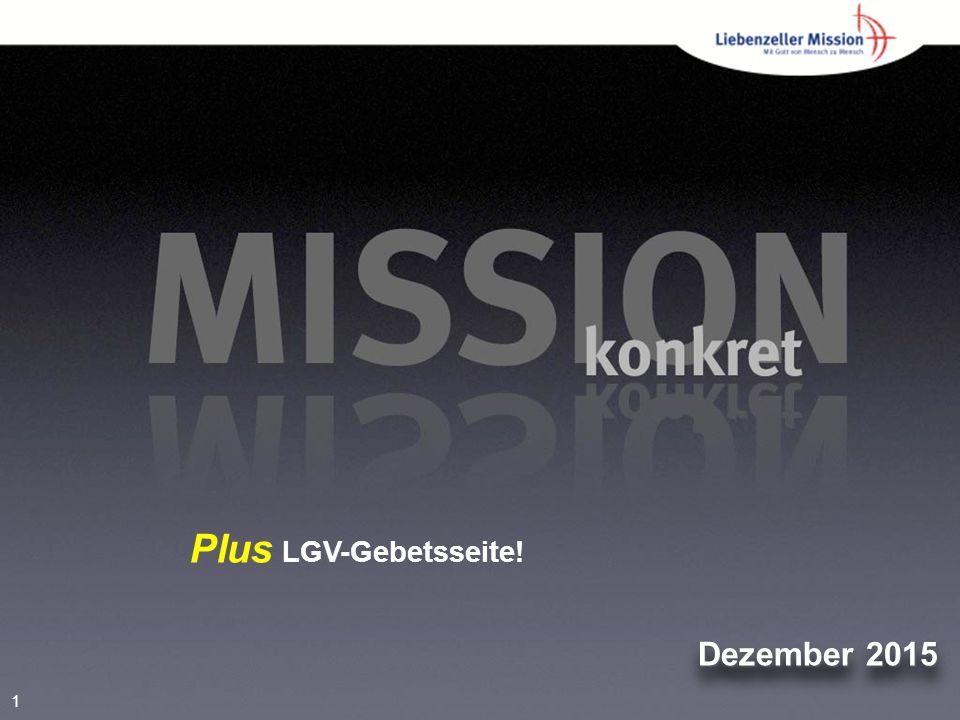 1 Dezember 2015 Plus LGV-Gebetsseite!