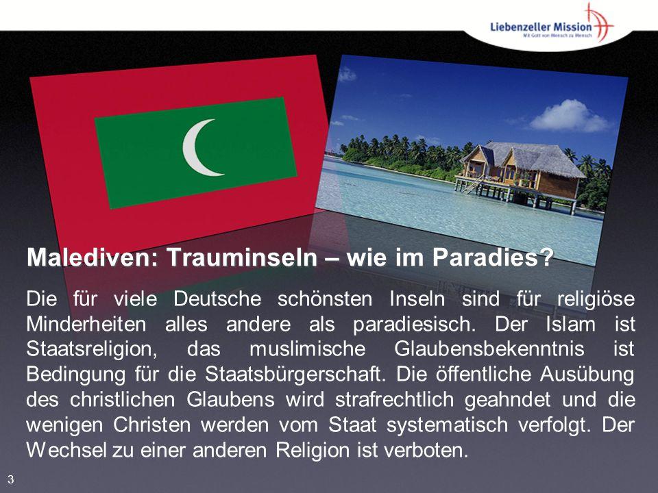 Malediven: Trauminseln – wie im Paradies? Die für viele Deutsche schönsten Inseln sind für religiöse Minderheiten alles andere als paradiesisch. Der I