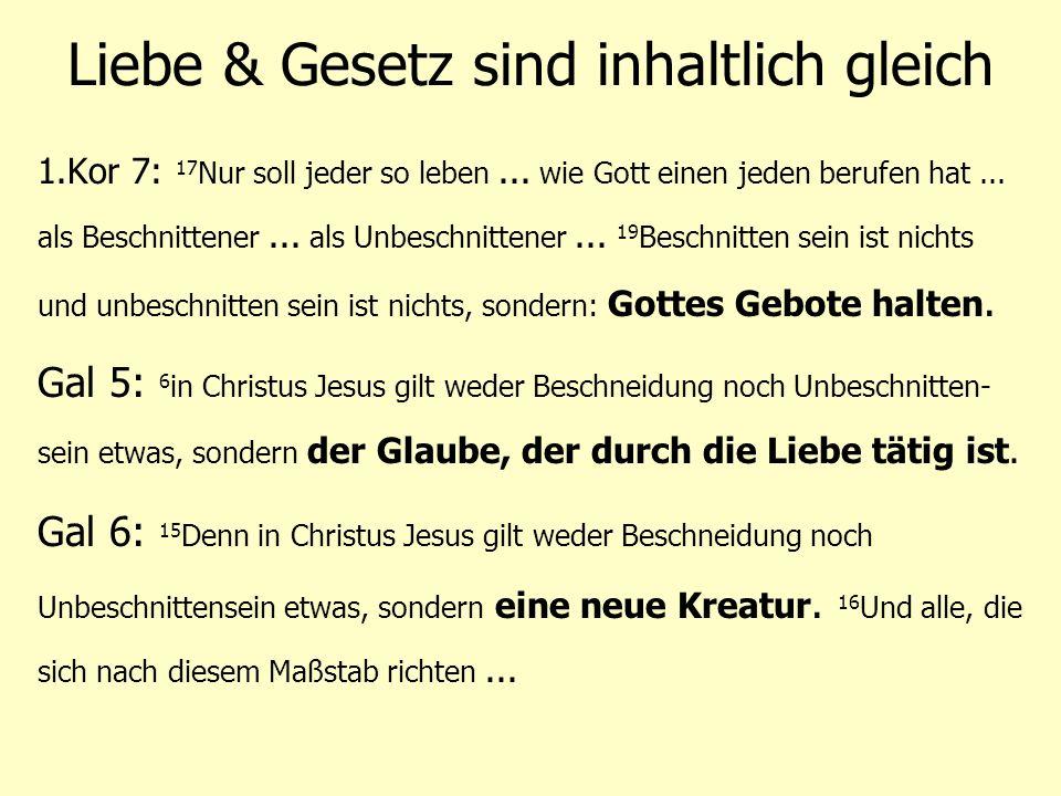 Jesu Lehre = das Gesetz Matthäus 22: 35 Und einer von ihnen, ein Schriftgelehrter, versuchte ihn und fragte: 36 Meister, welches ist das höchste Gebot im Gesetz.