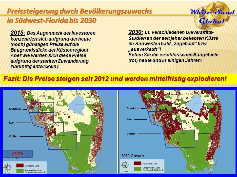 """2030: Lt. verschiedenen Universitäts- Studien an der seit jeher beliebten Küste im Südwesten bald """"zugebaut"""" bzw. """"ausverkauft""""! Sehen Sie die erschlo"""