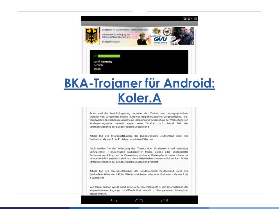 BKA-Trojaner für Android: Koler.A